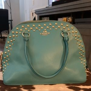 Teal Genuine Coach Bag